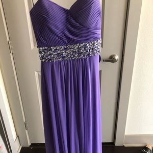 Purple prom dress!